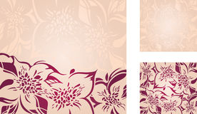Floral decorative holiday background set Stock Images