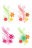 Floral decorative motif on white. Vector Stock Images