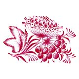 Floral decorative ornament branch with berries Stock Photos