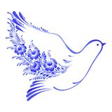 Floral decorative ornament dove peace Stock Images