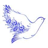 Floral decorative ornament dove peace Stock Images