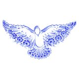 Floral decorative ornament dove peace Royalty Free Stock Images