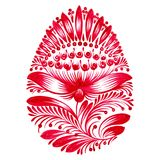 Floral decorative ornament easter egg. Hand drawn illustration in Ukrainian folk style Royalty Free Stock Photos