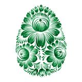 Floral decorative ornament. Hand drawn illustration in Ukrainian folk style Royalty Free Stock Photography