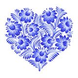 Floral decorative ornament heart Stock Images