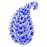 Floral decorative ornament paisley Royalty Free Stock Images