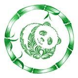 Floral decorative ornament panda Stock Photo