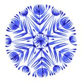 Floral decorative ornament snowflake Stock Photo