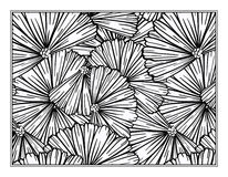 Floral decorative ornamental coloring page Stock Image