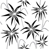 Floral decorative pattern. Black and white version. Vector seamless patterns. Modern graphic design. Stylish graphic texture Stock Image