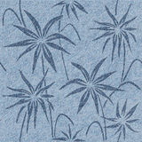 Floral decorative pattern - Blue jeans texture. Seamless background Royalty Free Stock Photos