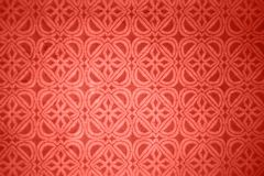 Floral decorative pattern from glazed ceramic tile in a trendy color of the year 2019 Living Coral pantone. stock images