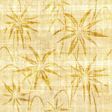 Floral decorative pattern - papyrus texture. Seamless background Royalty Free Stock Photo