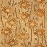 Floral decorative pattern - wood texture. Seamless background Stock Photo