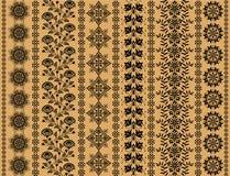 Floral decorative patterns Stock Images