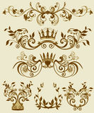 Floral decorative patterns in stiletto baroque and Royalty Free Stock Image