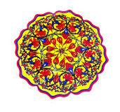 The floral decorative plate Royalty Free Stock Photo