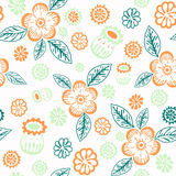 Floral decorative seamless background for textiles and paper. Pa Royalty Free Stock Photos