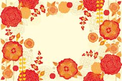 Floral decorative seamless frame Stock Photography