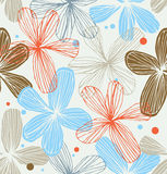 Floral decorative seamless lacy pattern  Vintage r Stock Photos