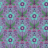 Floral decorative seamless pattern Stock Images