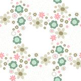 Floral decorative seamless pattern Royalty Free Stock Photos