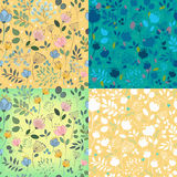 Floral decorative seamless patterns Stock Image