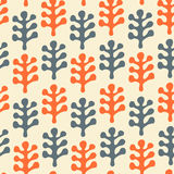 Floral decorative seamless texture. Pattern with leafs Royalty Free Stock Images