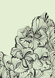 Floral decorative swirl background. Hand drawn illustration. decorative floral background in vintage style Stock Photography