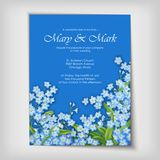 Floral decorative wedding or invitation design royalty free illustration