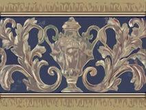 Floral decorativo abstrato ilustração stock