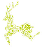 Floral deer Royalty Free Stock Photo