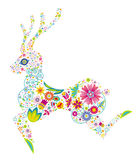 Floral deer Stock Photo