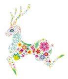 Floral deer Stock Photo