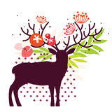 Floral deer Royalty Free Stock Photos
