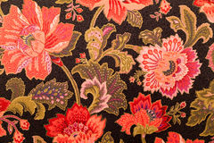 Floral deisgn on fabric Stock Images