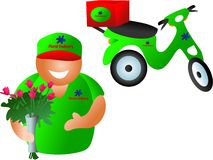 Floral delivery Stock Photo