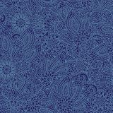 Floral denim seamless pattern Stock Photography