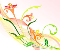 Floral design. Decorative floral background ideal for invitation, greeting cards, brochure, magazine and poster Stock Images
