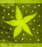 Floral design. Flowers illustration on old scraped paper backgrond Royalty Free Stock Photos