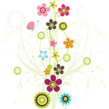 Floral Design. Colorful floral Design illustration background Stock Images