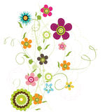 Floral Design. Abstract colorful floral Design background Stock Photo