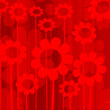 Floral design. Abstract background in red tones Stock Image