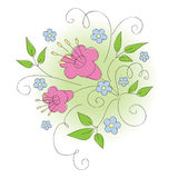 Floral design. Royalty Free Stock Images