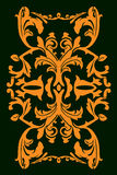 Floral Design. S in an isometric pattern that can be use as a whole or parts vector illustration