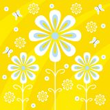 Floral design. Illustration of flowers and butterflies Vector Illustration