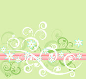 Floral design 2. Abstract green floral design background Stock Illustration