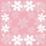Floral design. Spring decorative design with flowers Stock Illustration