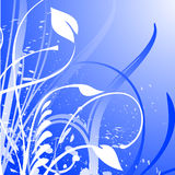Floral Design. On a blue background Stock Photo