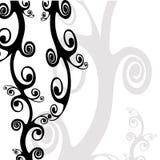 Floral Design. Black and White Decorative Floral Background stock illustration